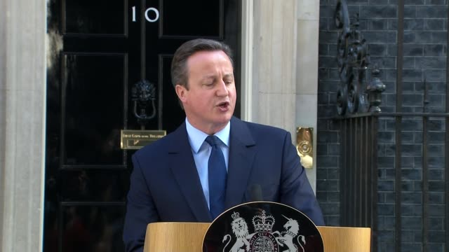 uk to leave the eu / cameron announces resignation england london downing street ext prime minister david cameron mp from number 10 with wife... - david cameron politician stock videos & royalty-free footage