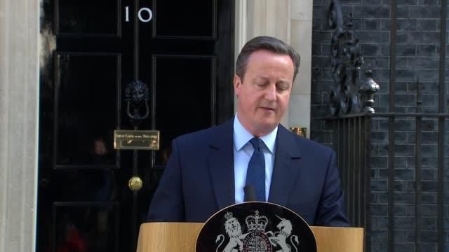 uk to leave the eu / cameron announces resignation cameron statement - david cameron politiker stock-videos und b-roll-filmmaterial