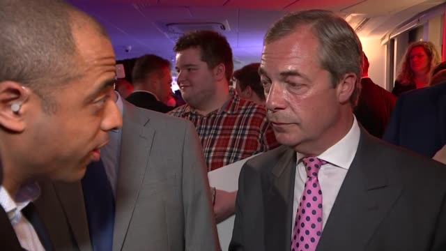 uk to leave the eu nigel farage interview england london int nigel farage mep interview sot talks of extension of the registration period being the... - referendum stock-videos und b-roll-filmmaterial