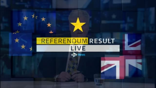 to leave the eu: scotland reaction; excerpt stv news coverage of eu referendum result - referendum stock videos & royalty-free footage