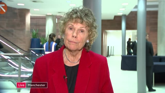 row between labour leave and vote leave groups england london gir ext kate hoey mp live 2way interview from manchester sot - 国民投票点の映像素材/bロール
