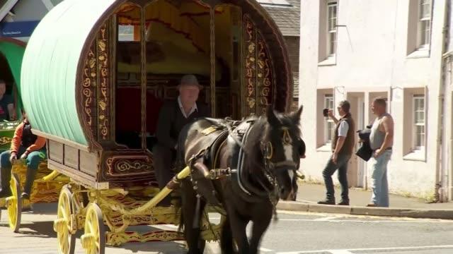 voter registration deadline extended after government website crashes Varioius shots Appleby Horse Fair including traditional caravans and children...