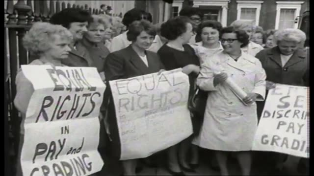 voter registration deadline extended after government website crashes Women holding 'Equal rights' placards at Ford sewing machinists strike [see...