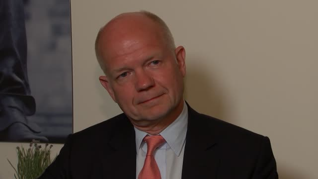 william hague interview england london int william hague mp interview sot - william hague stock-videos und b-roll-filmmaterial