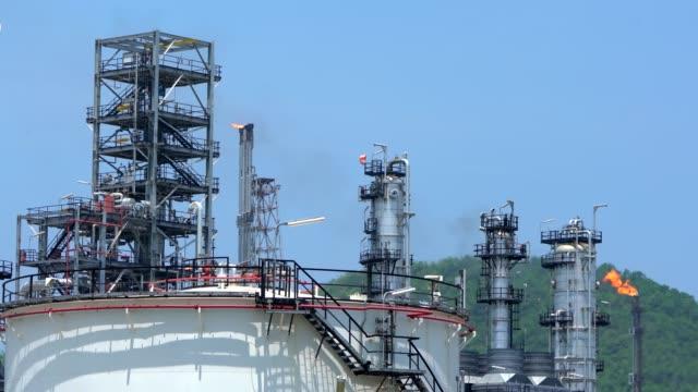 vídeos de stock e filmes b-roll de refinery zone footage - reacção química