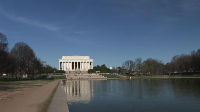 WS, Reflecting Pool and Lincoln Memorial, Washington DC, Washington, USA