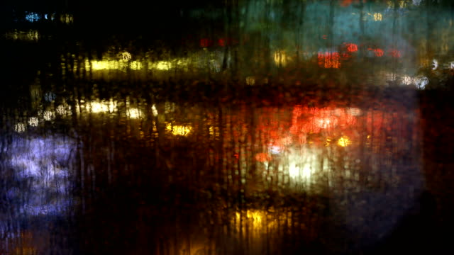 reflection at vancouver traffic jam in night - vancouver canada stock videos and b-roll footage