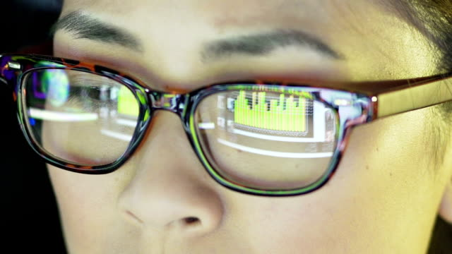 reflection glasses - big data video stock e b–roll