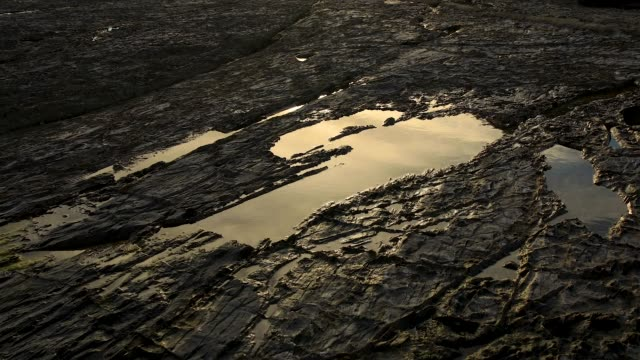reflection in rock pool time-lapse australia - tide pool stock videos & royalty-free footage