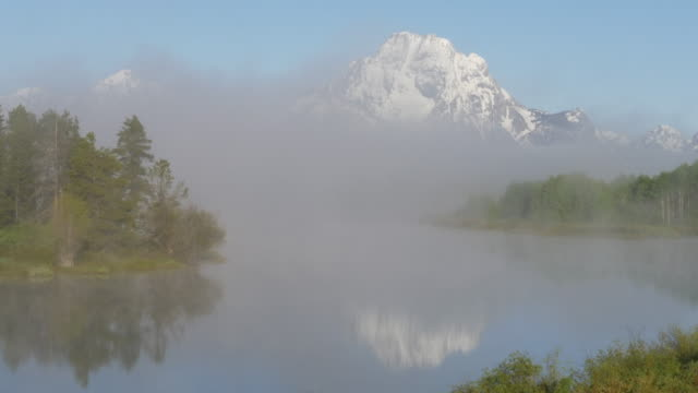 reflection of grand teton in the snake river - river snake stock videos & royalty-free footage