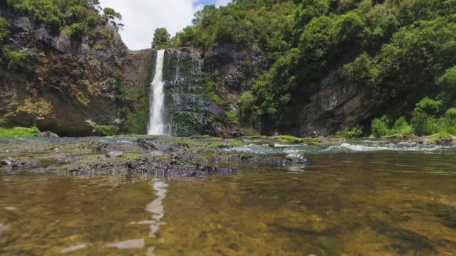 Reflection of Hunua Falls.