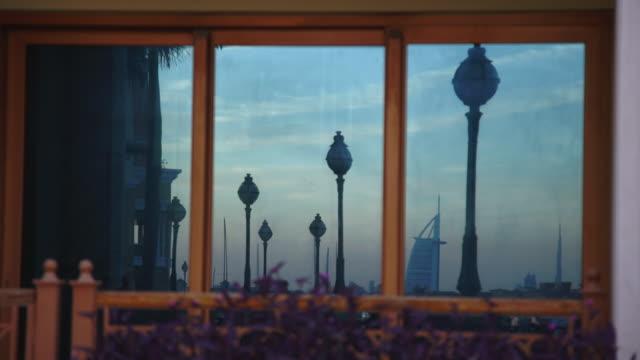reflection of marina - dubai - simplicity stock-videos und b-roll-filmmaterial
