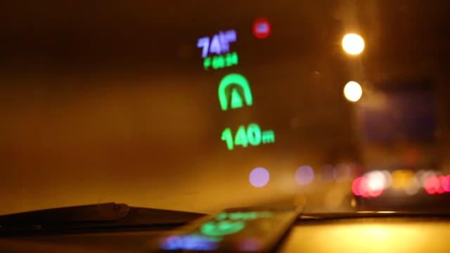 Reflection of Navigation system on car windshield