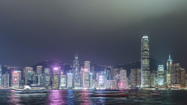 t/l ws pan reflection of victoria harbour, hong kong - westernisation stock videos & royalty-free footage
