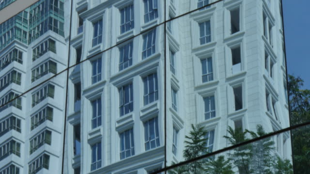 Reflections in contemporary architecture, Bangkok, Thailand, Southeast Asia, Asia