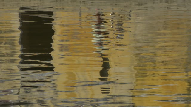 Reflections in the Thu Bon river, Hoi An Vietnam