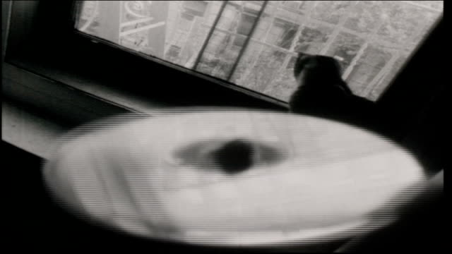 reflections on cd disk and cat in the background - disk stock videos & royalty-free footage