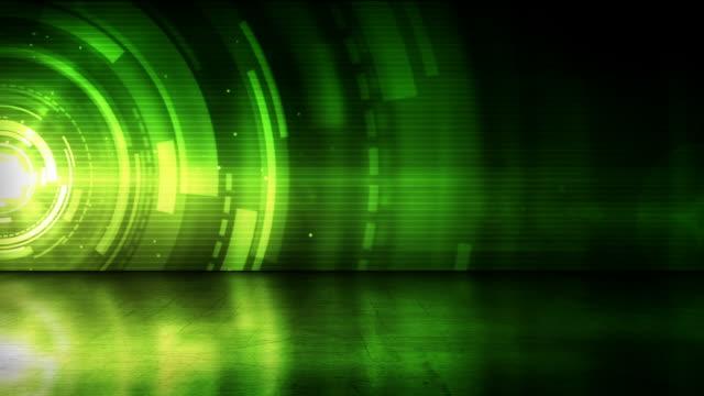 vídeos de stock, filmes e b-roll de andar refletivos fundo loop-verde anéis (full hd - full hd format