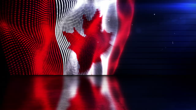 reflective floor background loop - the canadian flag (full hd) - adobe after effects stock videos and b-roll footage