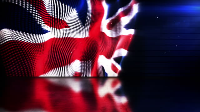 reflective floor background loop - the english flag (full hd) - all european flags stock videos and b-roll footage