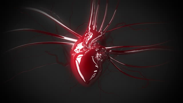 reflective heart animation - audio available stock videos & royalty-free footage