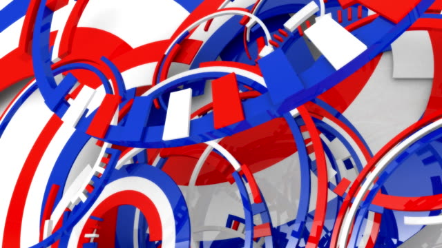 reflective spinning shiny festive american colors and shapes. - politics abstract stock videos & royalty-free footage