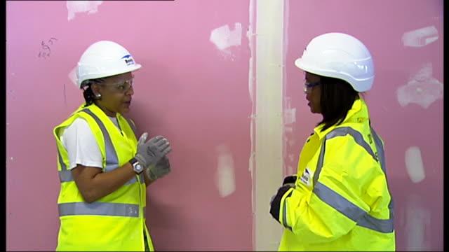 reformed drug addict joins construction industry rehabilitation programme meurika stewart interview sot - prisoner rehabilitation stock videos & royalty-free footage