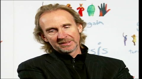 reformed rock band genesis interviewed prior to their twenty date european tour; tony banks, phil collins and mike rutherford interview sot - on idea... - マイク ラザーフォード点の映像素材/bロール