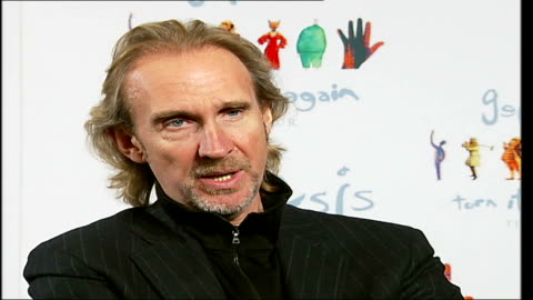 reformed rock band genesis interviewed prior to their twenty date european tour; tony banks, phil collins and mike rutherford interview sot - on... - マイク ラザーフォード点の映像素材/bロール