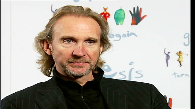reformed rock band genesis interviewed prior to their twenty date european tour; tony banks, phil collins and mike rutherford interview sot - on... - mike rutherford stock videos & royalty-free footage
