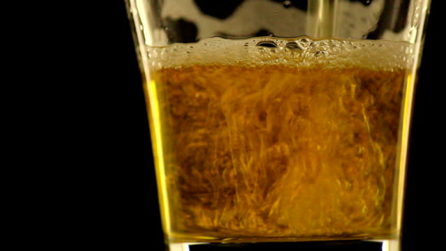 refreshing beer at dark night and tilt camera - beer alcohol stock videos and b-roll footage