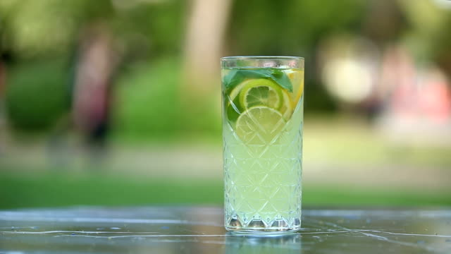Refreshing Drink With Lime