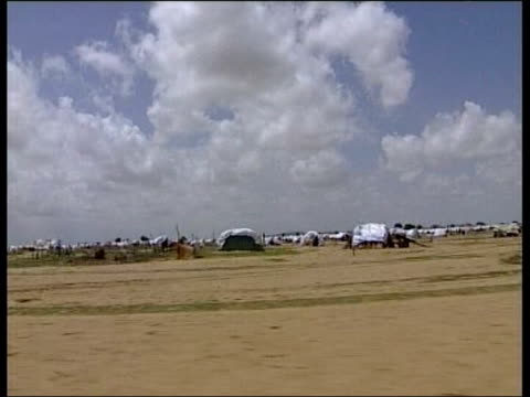 refugee camp track gv refugee camp pull out clean feed tape = d0595505 or d0595506 00:23:18:00 - 00:24:54:00 fx/mix programme as broadcast tape =... - krishnan guru murthy stock videos & royalty-free footage