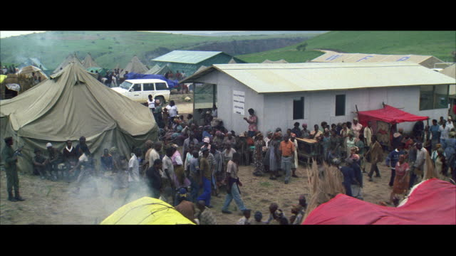 WS Refugee moving across refugee camp
