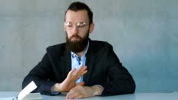 refusal rejection business man decline offer stop