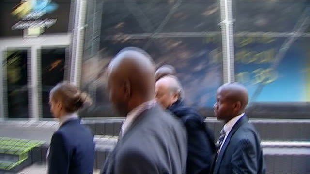 refuse to comment on goal-line technology; location unknown: sepp blatter along with others - fifa world cup 2010 stock videos & royalty-free footage