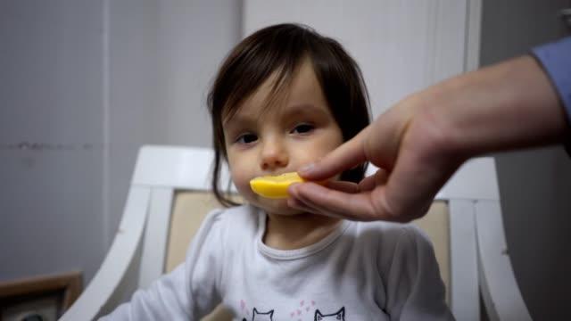vídeos de stock e filmes b-roll de refusing a slice of lemon - limão