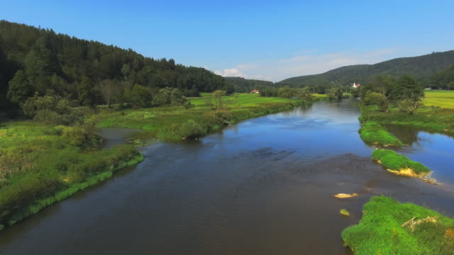 regen river in north bavaria - upper palatinate stock videos & royalty-free footage