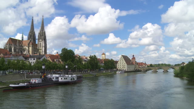 Regensburg Old Town And Danube River