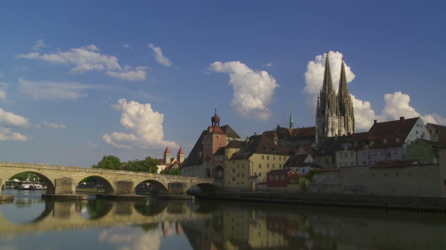 T/L Regensburg Old Town And Stone Bridge