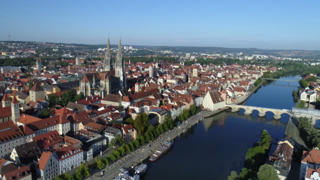 Regensburg Old Town uit het oosten