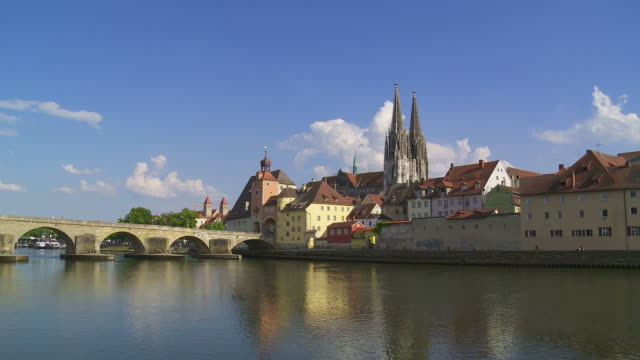 regensburg old town - german culture stock videos & royalty-free footage