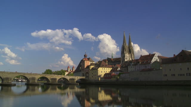 regensburg old town - monumente stock videos & royalty-free footage