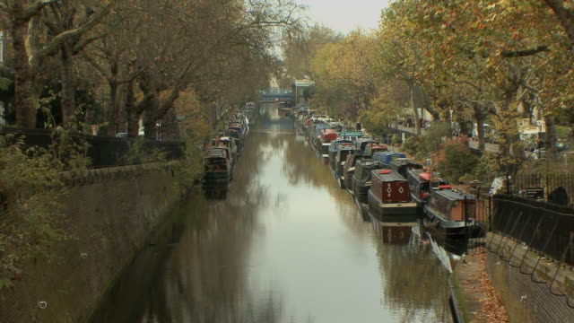 WS Regent canal with houseboats in Little Venice / London, UK.