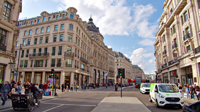 regent shopping street. city life. shopping street. shops, stores, cafes. leisure. - film moving image stock videos & royalty-free footage