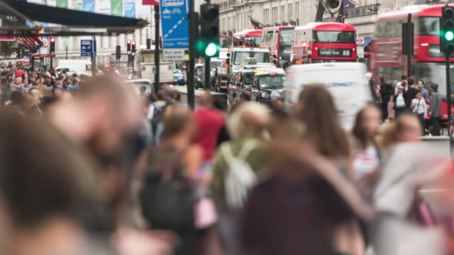 regent street london time lapse - double decker bus stock videos & royalty-free footage