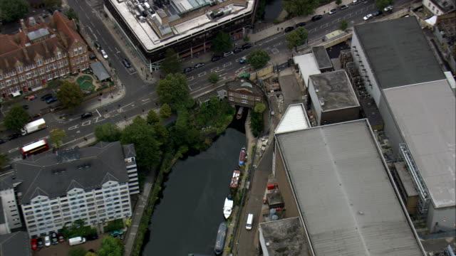 Regents Canal nahe dem London Zoo-Luftaufnahme-England, Mehr London, Camden, Vereinigtes Königreich