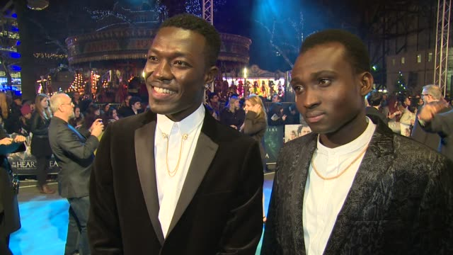 reggie and bollie on x factor, the movie and chris hemsworth at empire leicester square on december 02, 2015 in london, england. - leicester square stock videos & royalty-free footage