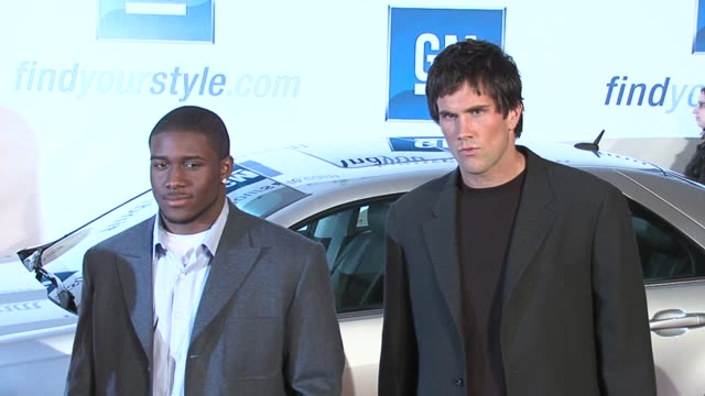 Reggie Bush and Matt Leinart at the GM Ten Event in Los Angeles California on February 28 2006