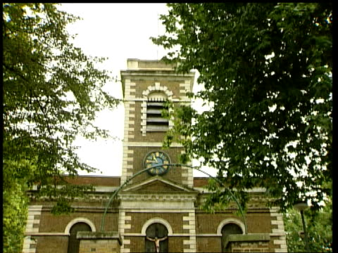 reggie kray's funeral details released england london bethnal green church where it is thought funeral of reggie kray will be held tilt - bethnal green stock videos & royalty-free footage